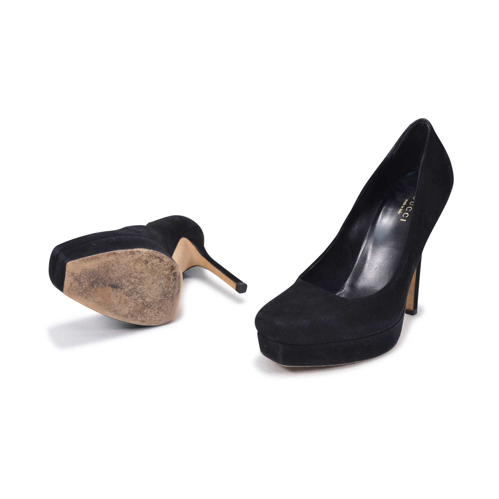 9bd6b5551 ... Authentic Second Hand Gucci Kid Scamosciato Pumps (PSS-342-00005) -  Thumbnail ...