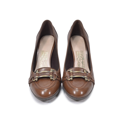 Authentic Second Hand Salvatore Ferragamo Loafer Pumps (PSS-334-00003)