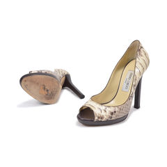 44e0f74709e5 Authentic Second Hand Jimmy Choo Suede Mirror Luna Pumps (PSS-287 ...
