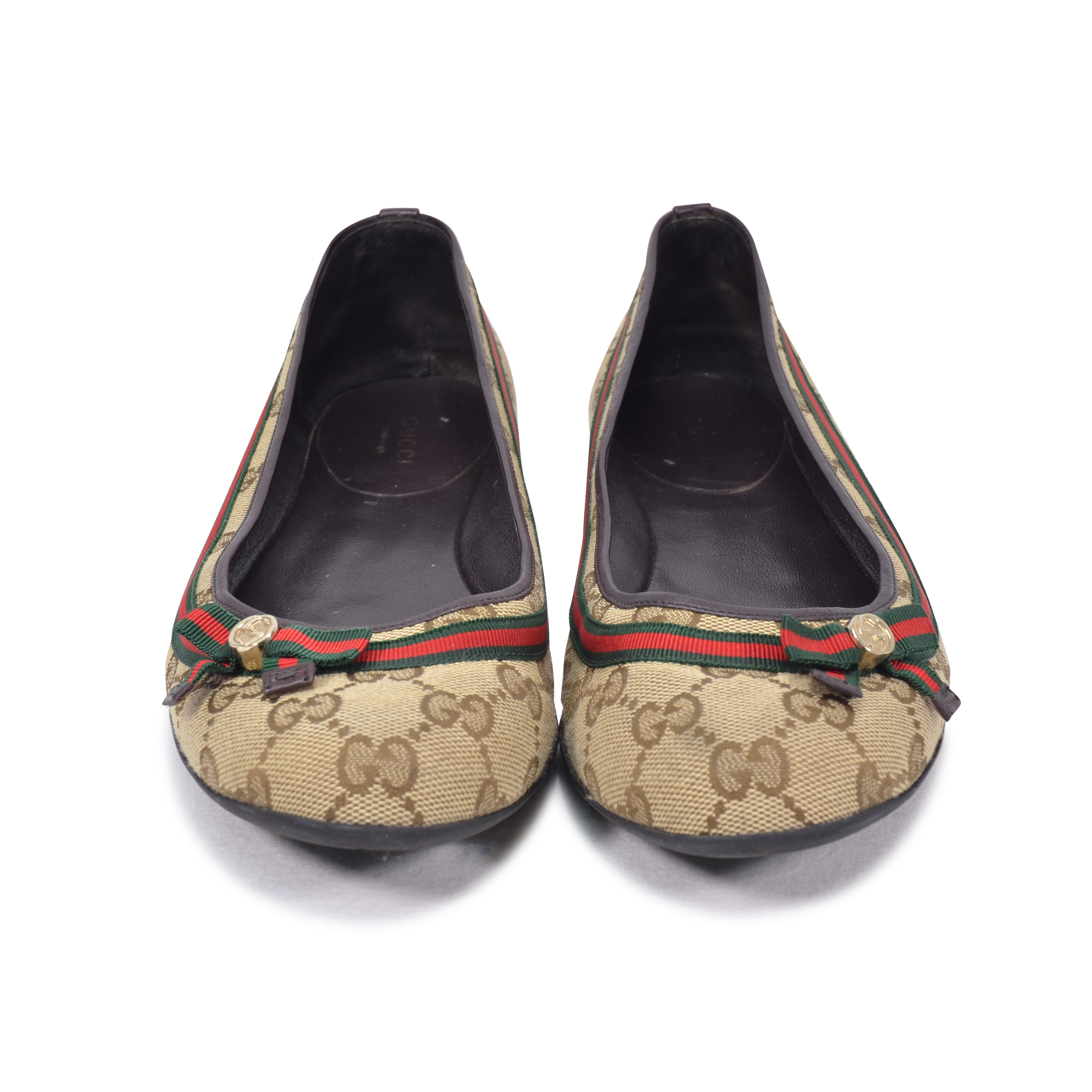 9657197414d Authentic Second Hand Gucci GG Supreme Ballet Flats (PSS-332-00009 ...
