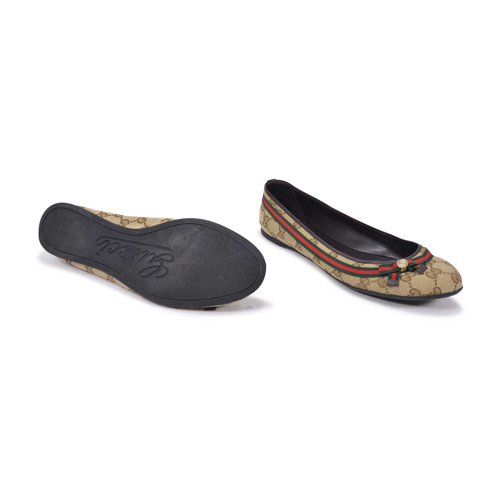 a426515e41b ... Authentic Second Hand Gucci GG Supreme Ballet Flats (PSS-332-00009) ...