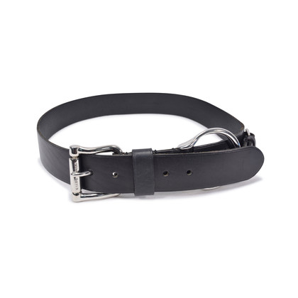 Authentic Second Hand Ralph Lauren Black Buckle Belt (PSS-332-00008)