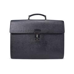 Saffiano Black Briefcase