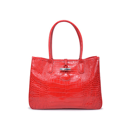 Authentic Second Hand Longchamp Roseau Croco Tote (PSS-336-00021)