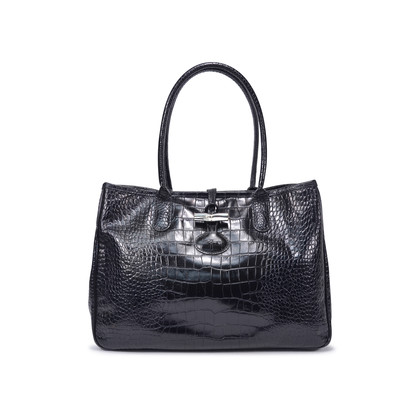 Authentic Second Hand Longchamp Roseau Croco Tote (PSS-336-00020)