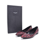 Authentic Second Hand Saint Laurent Seta Small Hearts Pointed Flats (PSS-336-00005) - Thumbnail 5