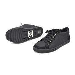 Chanel black sneakers 2?1494323481