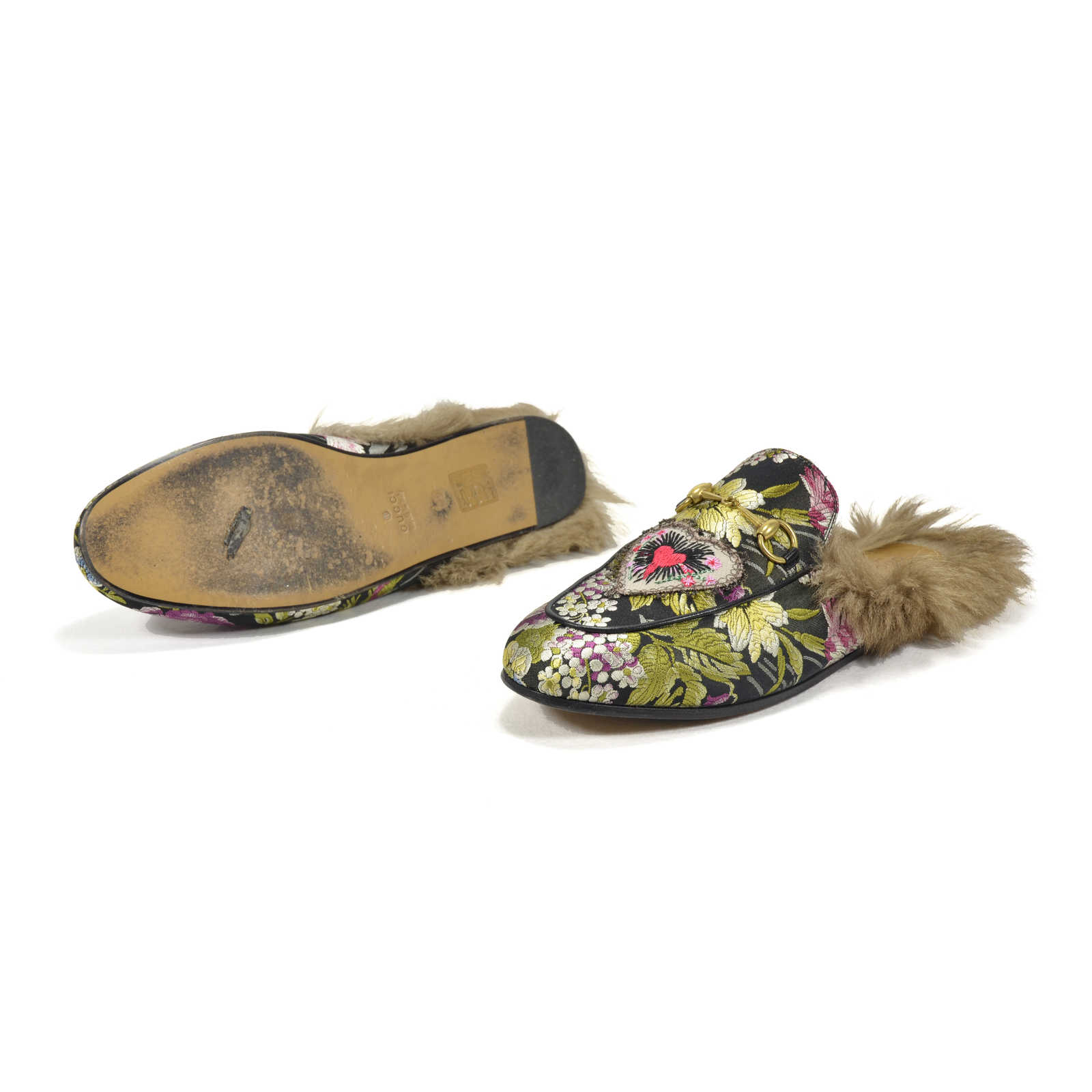 6ff59bd62ea ... Authentic Second Hand Gucci Princetown Floral Brocade Slipper  (PSS-051-00160) ...