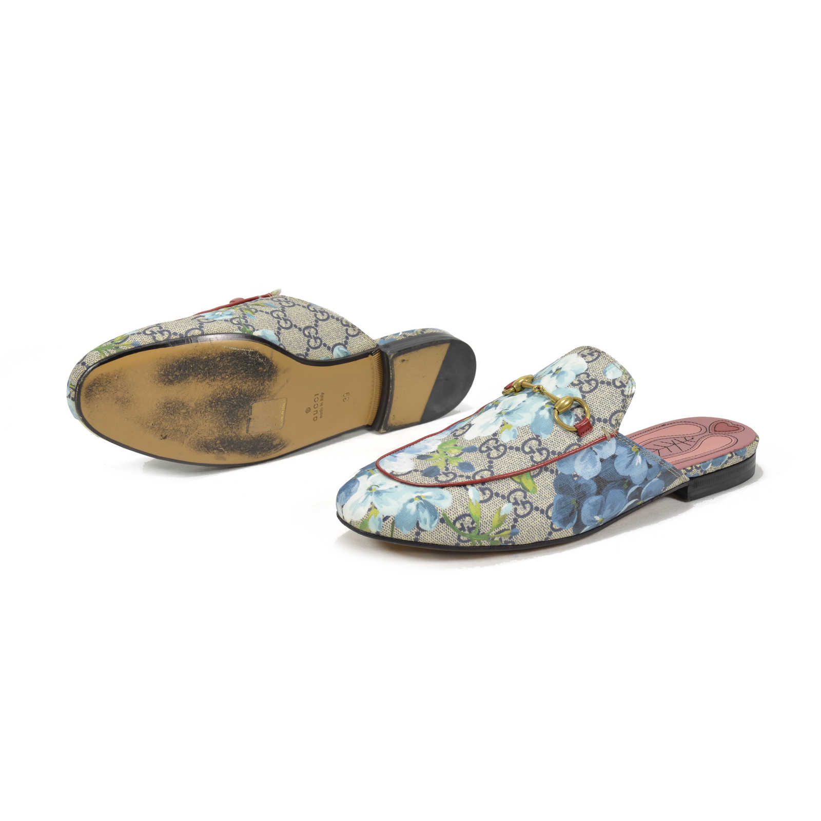 8365099ce ... Authentic Second Hand Gucci Princetown GG Blooms Slipper  (PSS-051-00161) ...