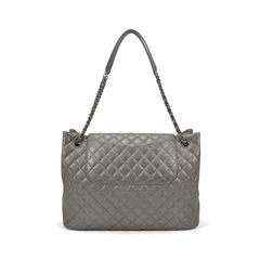 Chanel metallic flap shopping bag 2?1494325128