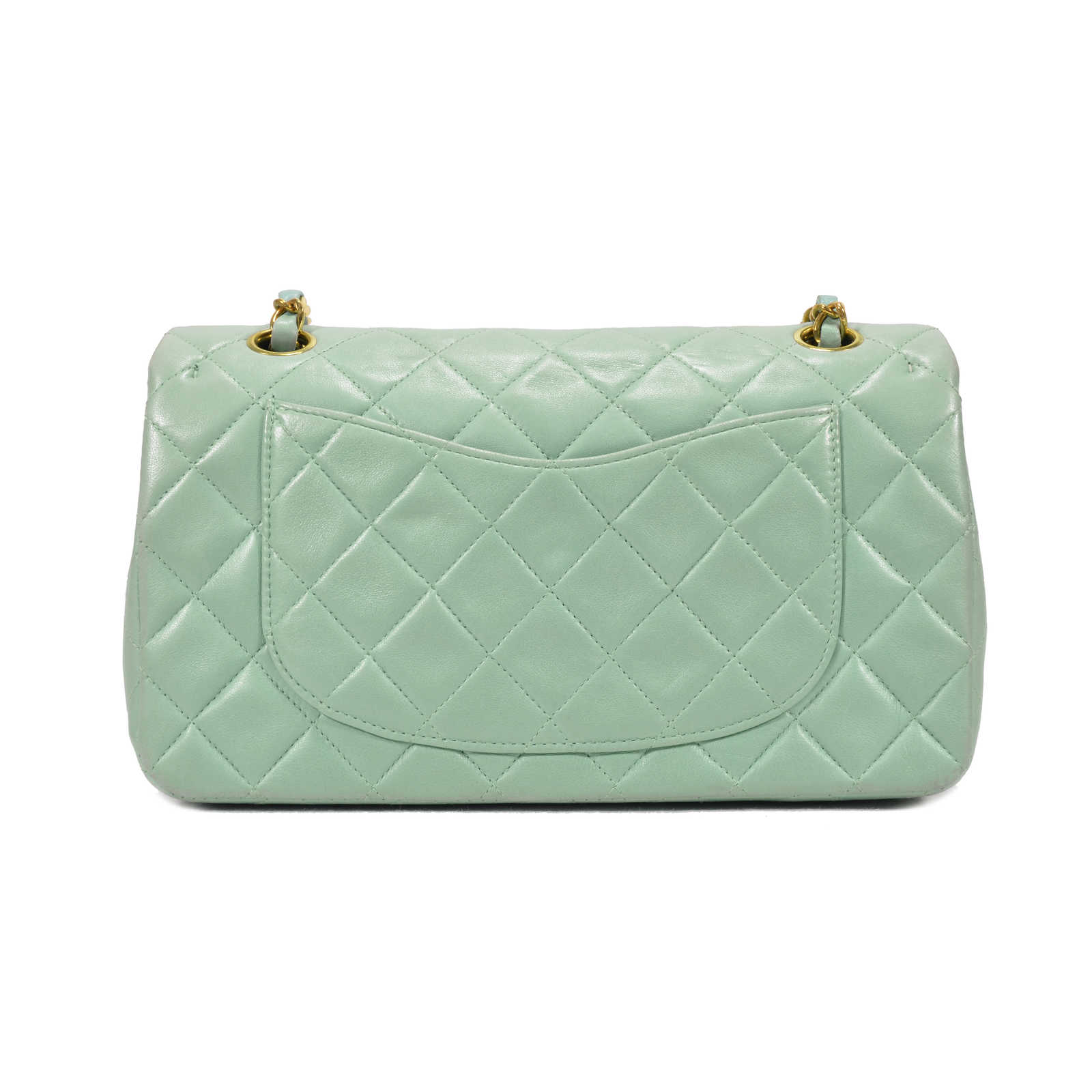 1b8fab065062 ... Authentic Second Hand Chanel Lark Green Classic Double Flap Bag (PSS-051-00147  ...