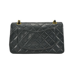 Chanel dark green classic double flap bag 2?1494490290