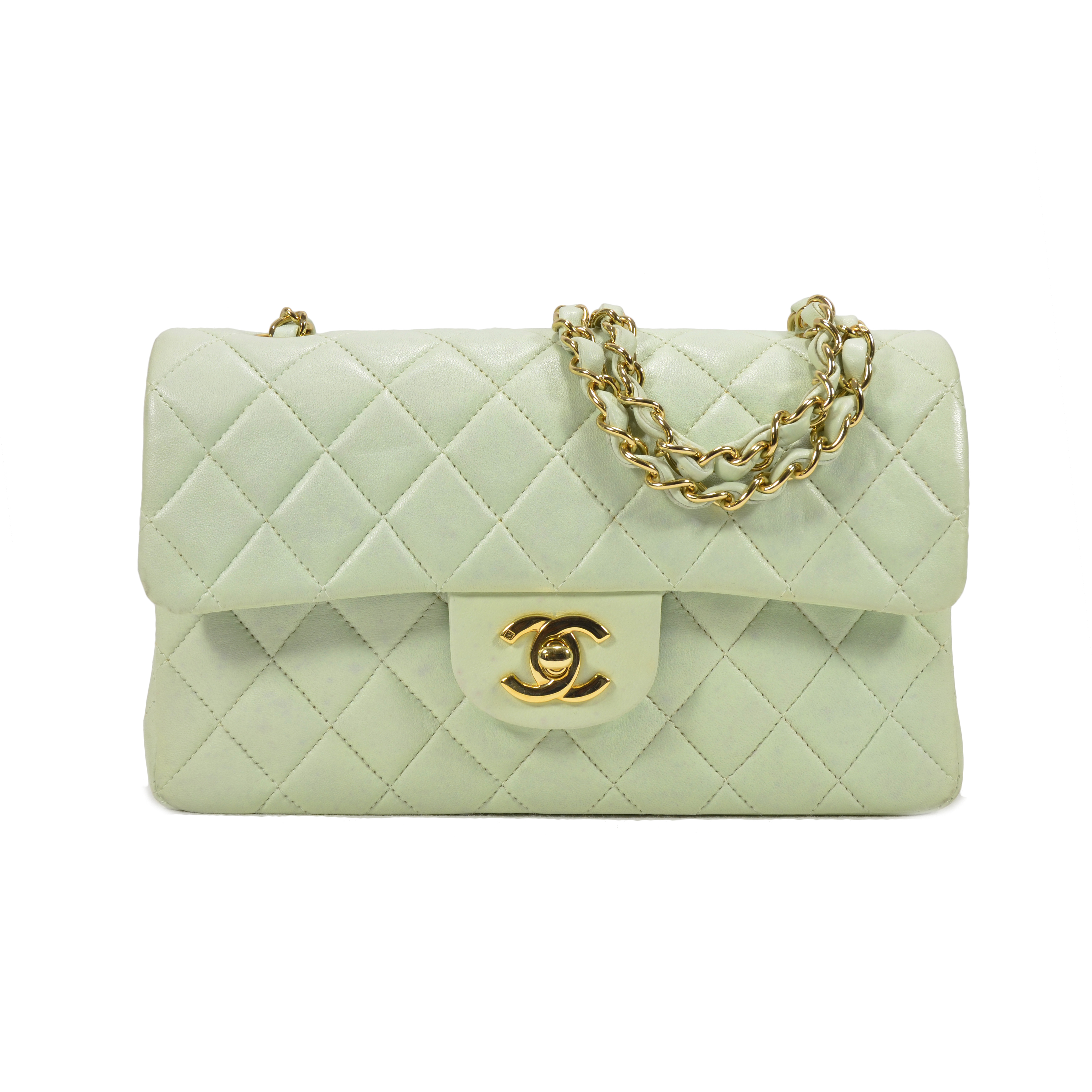5ce4a2079c20 Authentic Second Hand Chanel Pastel Green Classic Double Flap Bag  (PSS-051-00146)