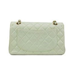Chanel pastel green classic double flap bag 2?1494490357