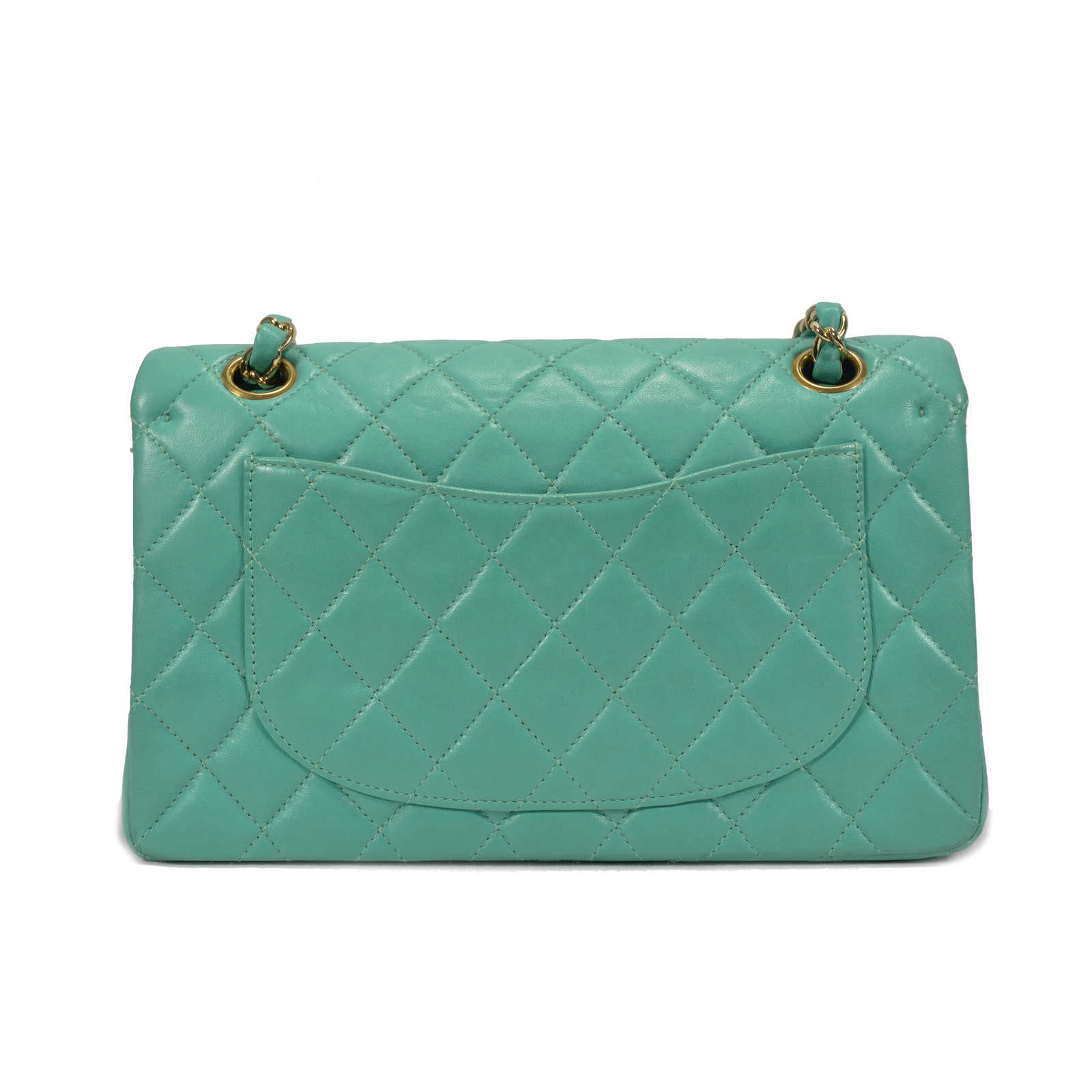 a3073fc64afe ... Authentic Second Hand Chanel Turquoise Classic Double Flap Bag (PSS-051-00145)  ...