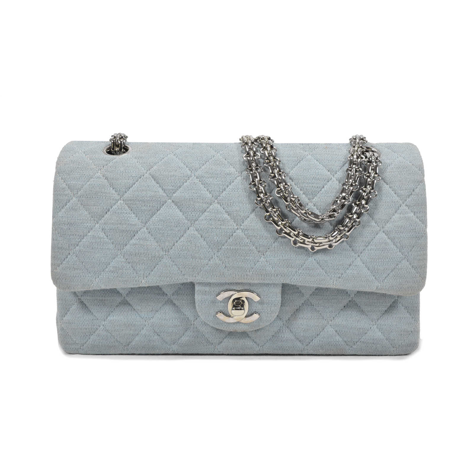 a50e16b6ef96 Authentic Second Hand Chanel Jersey Classic Flap Bag (PSS-051-00150) ...