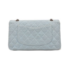 Chanel denim jersey classic flap bag 2?1494490695