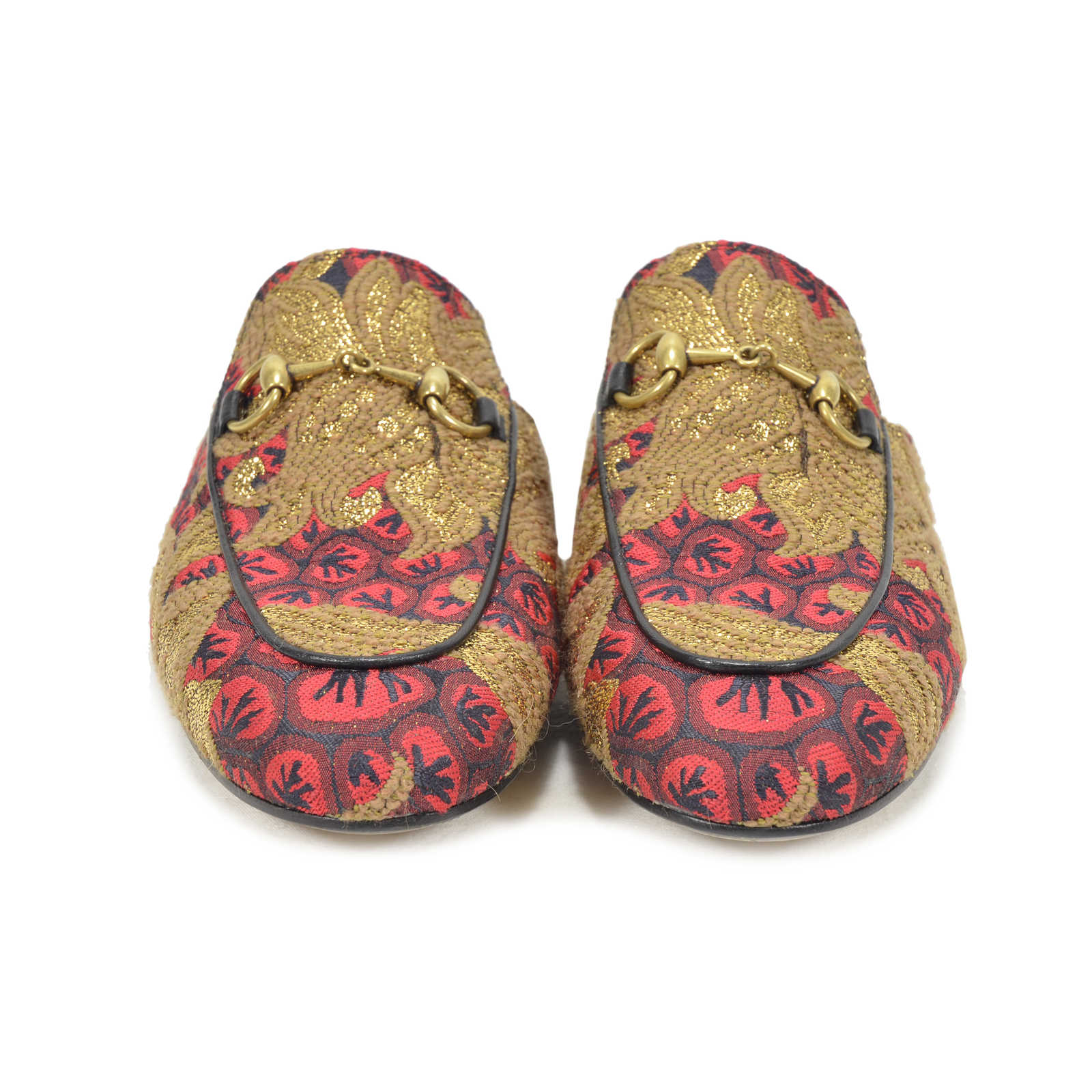 a42da545aec Authentic Second Hand Gucci Princetown Brocade Slipper (PSS-200-00800) -  Thumbnail ...