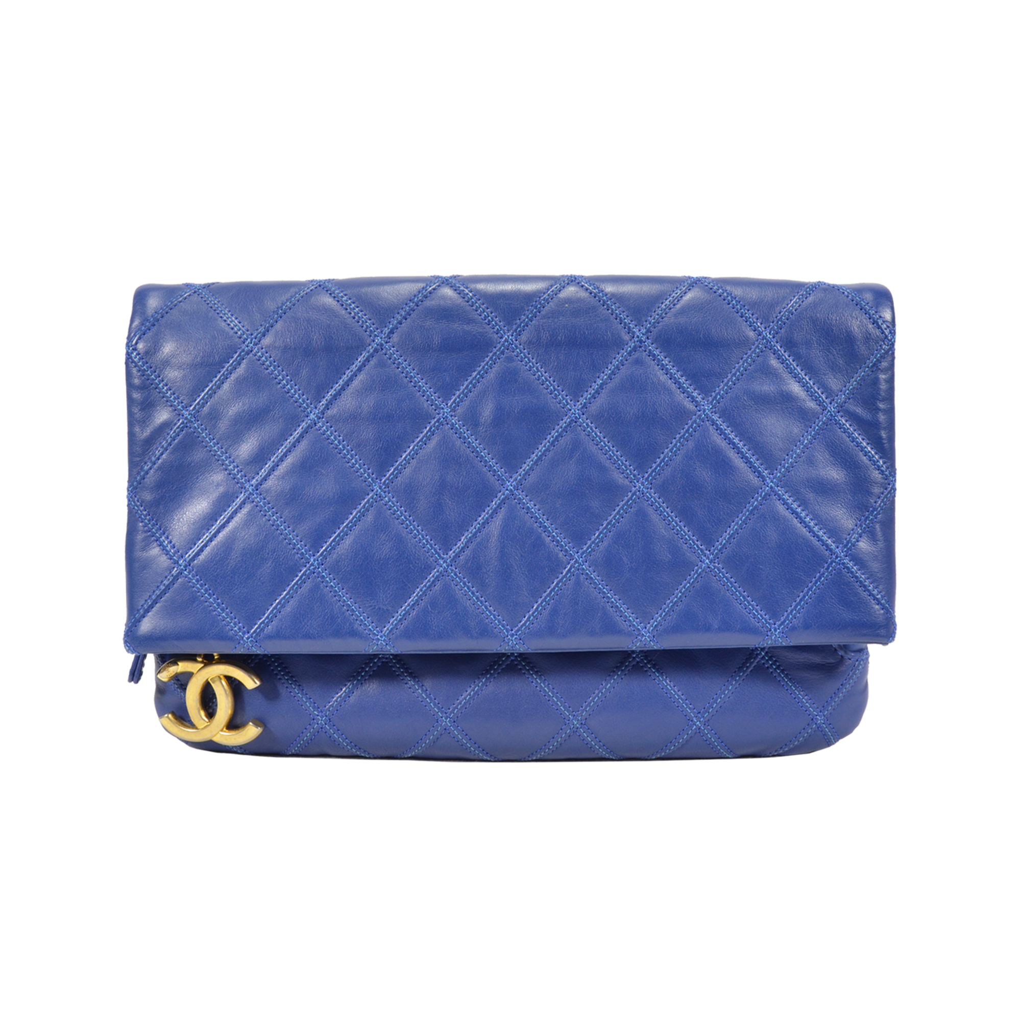 bb2a467758b5 SOLD BN Chanel A69391 Foldover Clutch Pouch Source · Authentic Pre Owned  Chanel CC Foldover Clutch PSS 350 00016 THE FIFTH COLLECTION