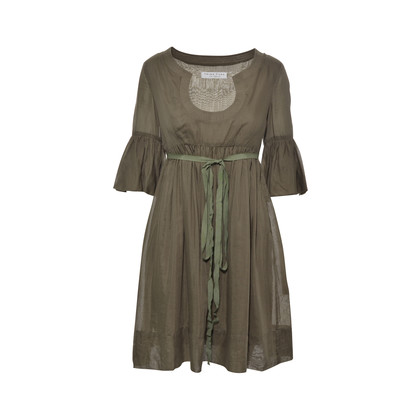 Authentic Second Hand Trina Turk Army Green Cotton Dress (PSS-330-00006)