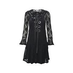 Lace Up Lace Dress