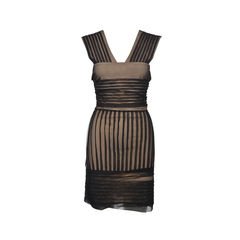 Minx Pleated Mesh Dress