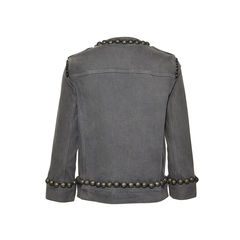 Lanvin studded stretch denim jacket 2?1496035108