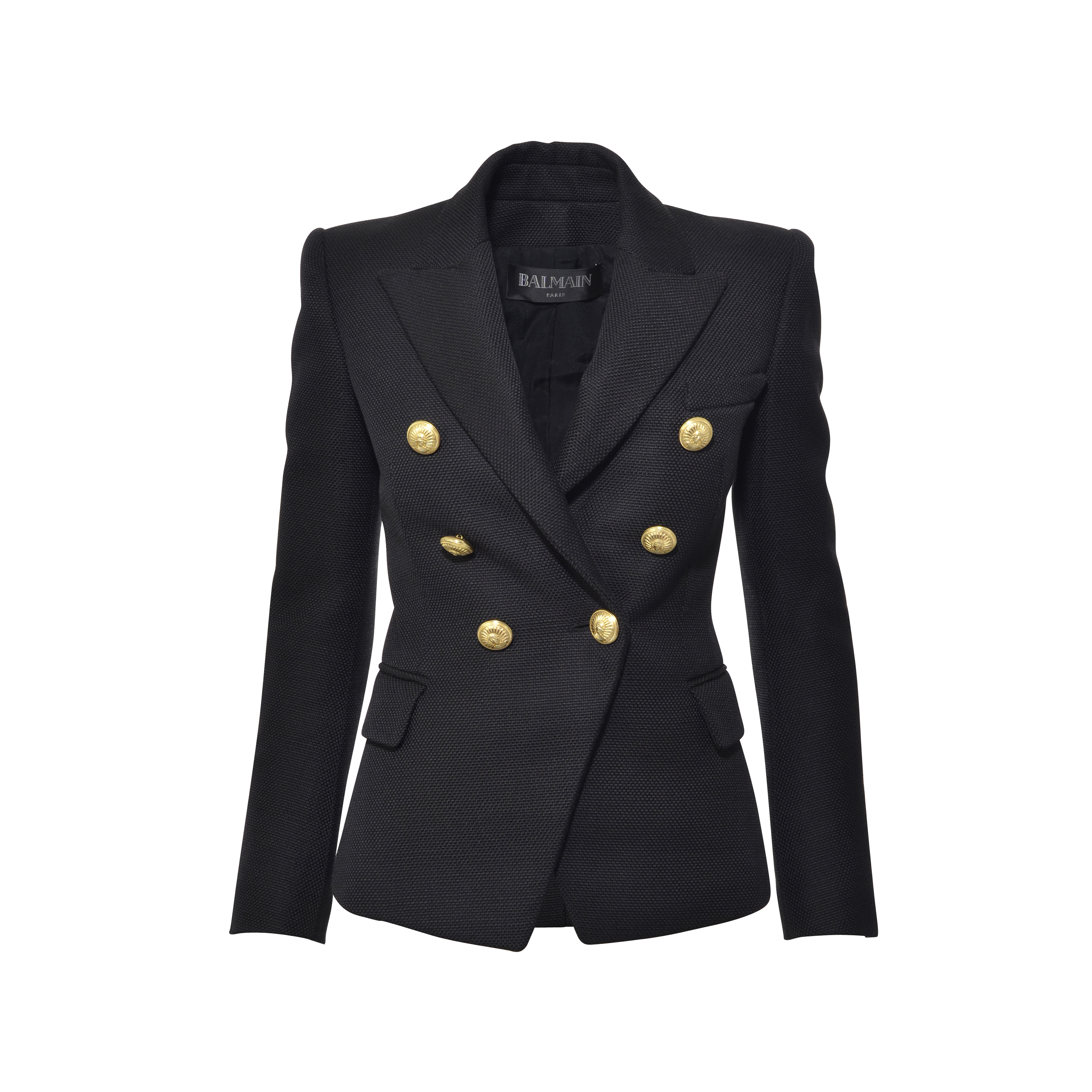 0229bd35f Authentic Second Hand Balmain Double-Breasted Basketweave Blazer  (PSS-249-00019) | THE FIFTH COLLECTION