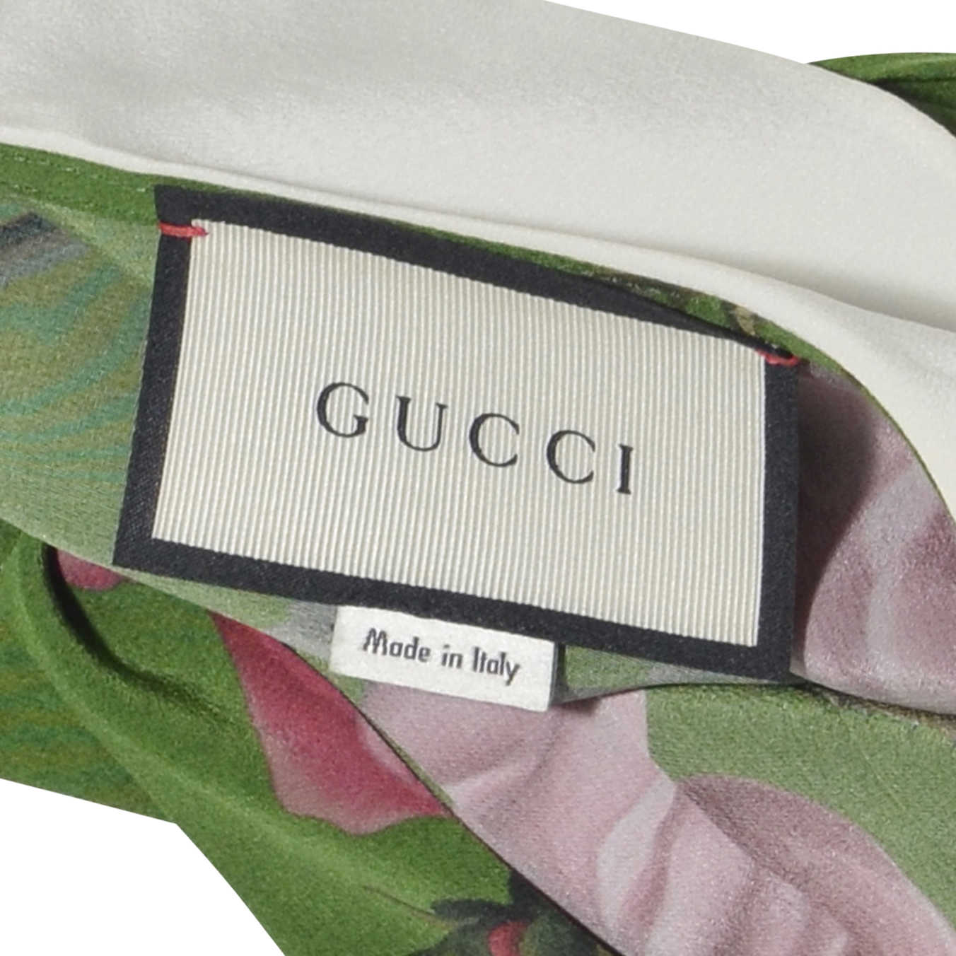 c474cd4208546f ... Authentic Second Hand Gucci Floral Silk Shirt with Bow (PSS-051-00168)