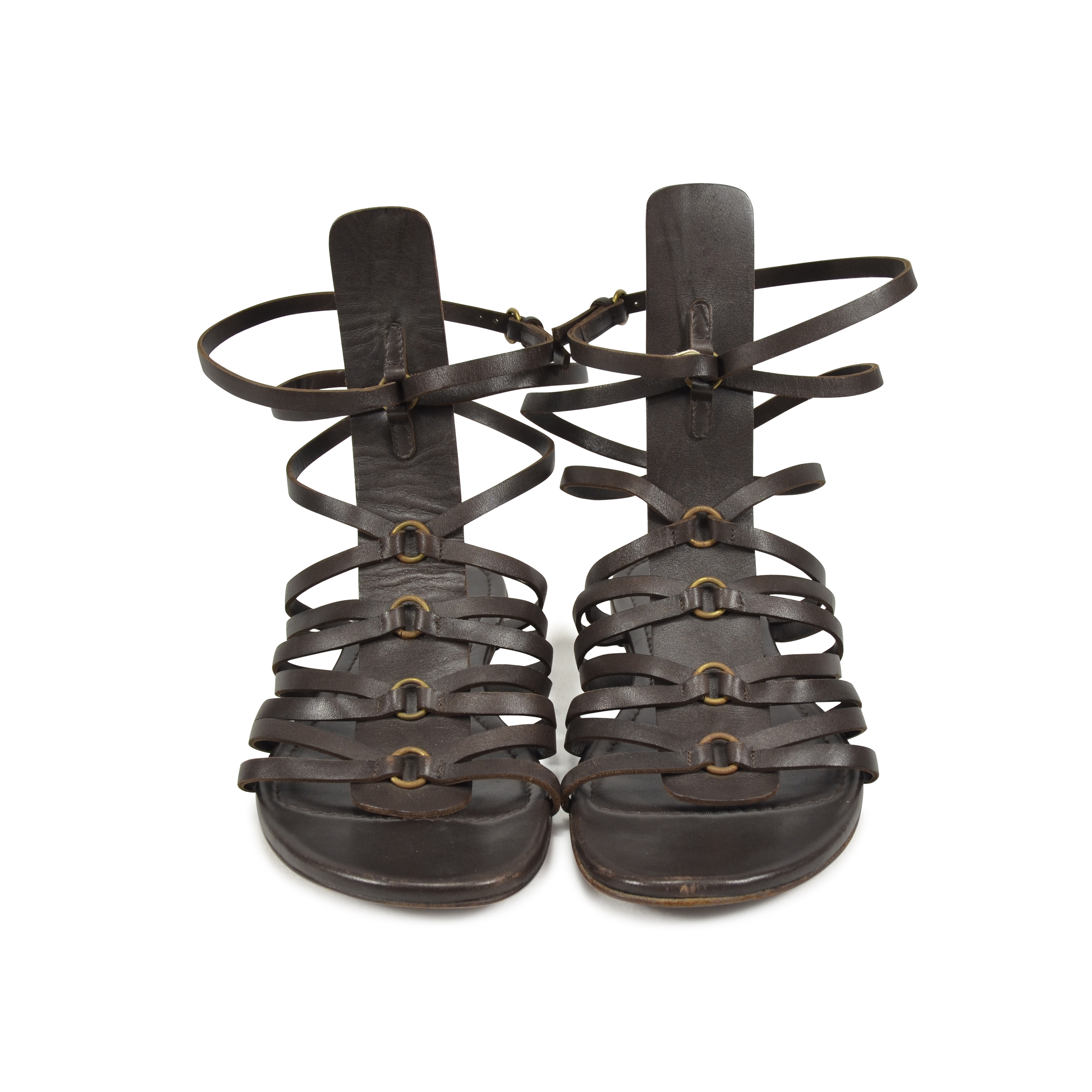b3a772b3fcfa ... free shipping second hand yves saint laurent goya gladiator sandals the  fifth collection f6e74 a2040