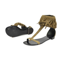 Balmain fringed sandals 2?1496116168
