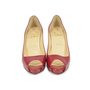 Authentic Second Hand Christian Louboutin Patent Peep Toe Pumps (PSS-340-00016) - Thumbnail 0
