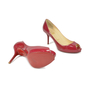 Authentic Second Hand Christian Louboutin Patent Peep Toe Pumps (PSS-340-00016) - Thumbnail 2