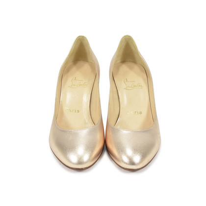 Authentic Second Hand Christian Louboutin Simple Metallic Pumps (PSS-340-00017)