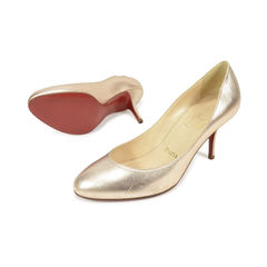 Christian louboutin simple metallic pumps 2?1496121234