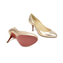 Authentic Second Hand Christian Louboutin Simple Metallic Pumps (PSS-340-00017) - Thumbnail 4