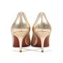 Authentic Second Hand Christian Louboutin Simple Metallic Pumps (PSS-340-00017) - Thumbnail 2