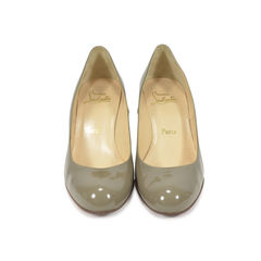 Grey Patent Simple Pumps