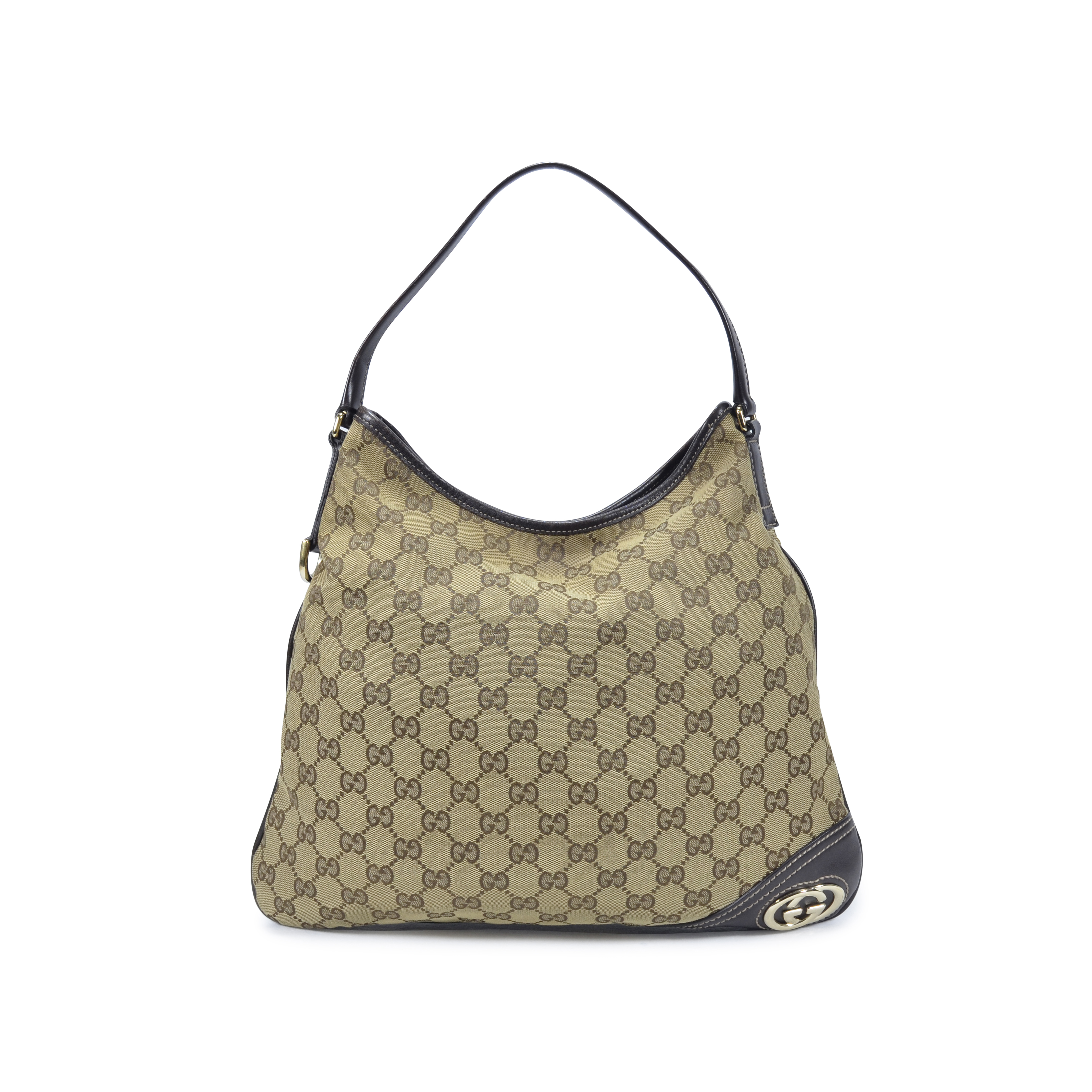 b1dd4d154ab5 Authentic Second Hand Gucci Monogram Shoulder Bag (PSS-350-00023) | THE  FIFTH COLLECTION