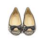 Authentic Second Hand Christian Louboutin Python Peep Toe Flats (PSS-340-00021) - Thumbnail 0