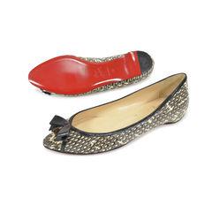 Christian louboutin python peep toe flats 2?1496136485