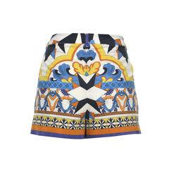 Philosophy di alberta ferretti printed cotton blend shorts 2?1496139288