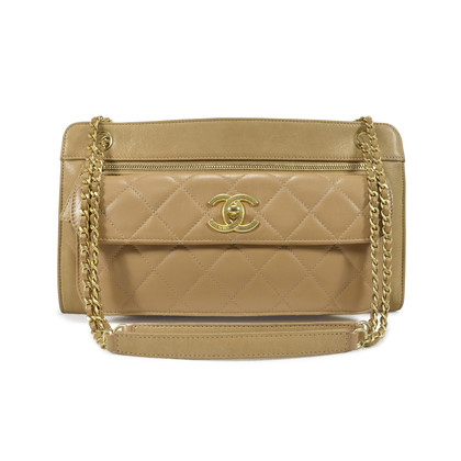 Authentic Second Hand Chanel Quilted Front Pocket Shoulder Bag (PSS-341-00009)