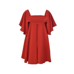 Milly red mila off the shoulder italian cady minidress 2?1496304503