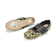 Miu miu lace up leather trimmed brocade ballerinas 2?1496309754