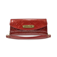 Sunset Boulevard Vernis Leather Clutch