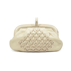 Salvatore ferragamo twisted leather clutch 2?1496649591
