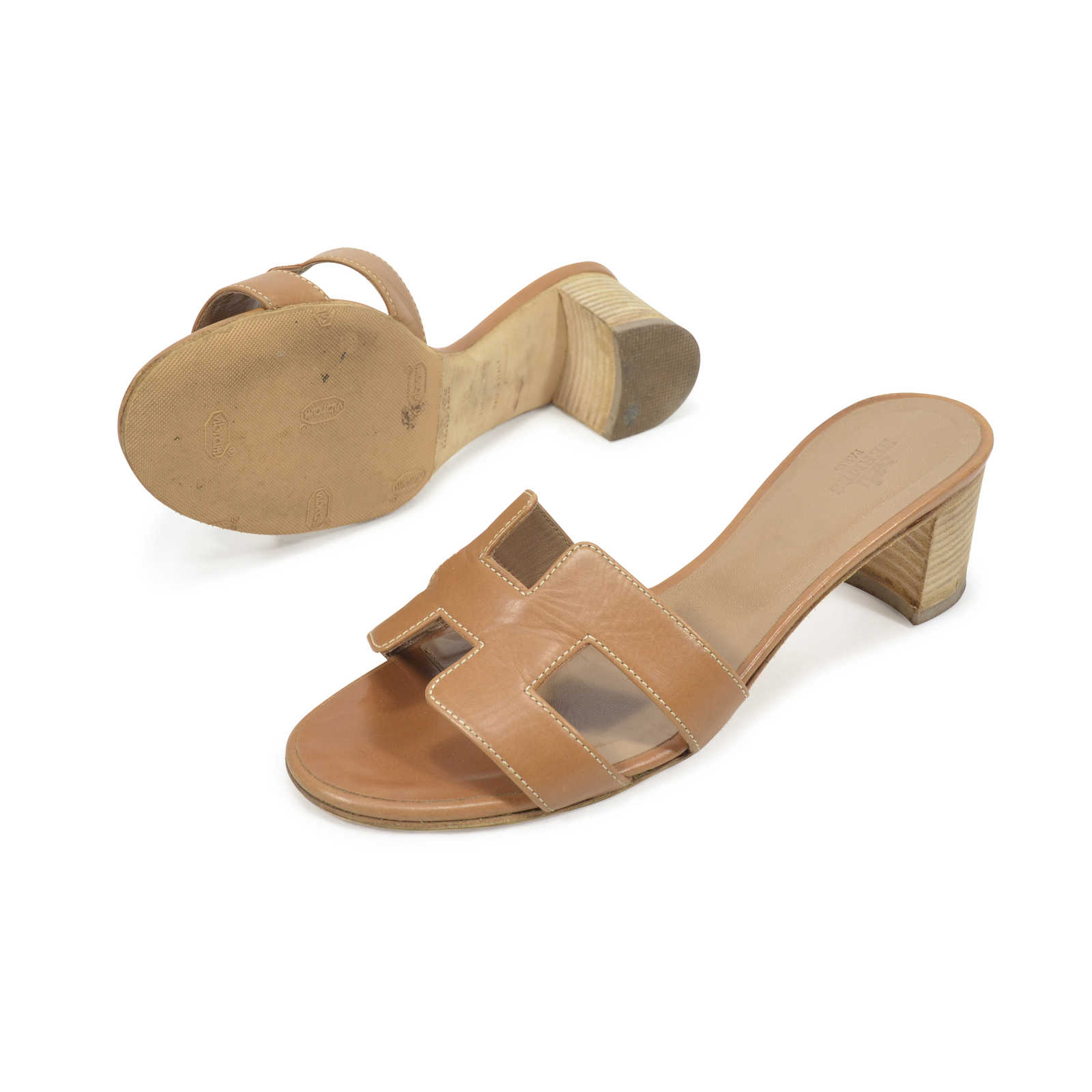 1378ad6f7db6 ... Authentic Second Hand Hermès Oasis Sandals (PSS-311-00019) - Thumbnail  1 ...