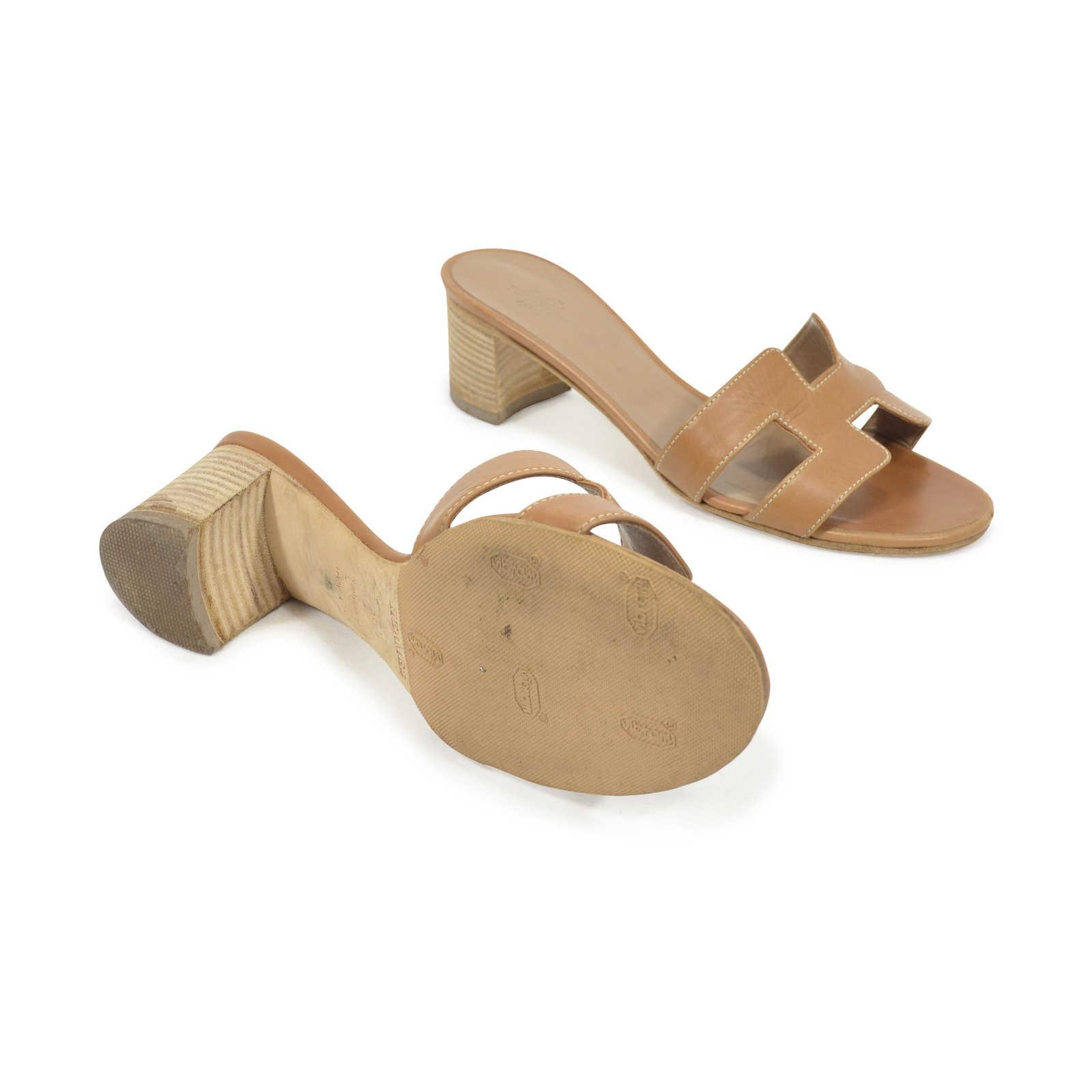 6ff061e4c3a3 ... Authentic Second Hand Hermès Oasis Sandals (PSS-311-00019) - Thumbnail  2 ...