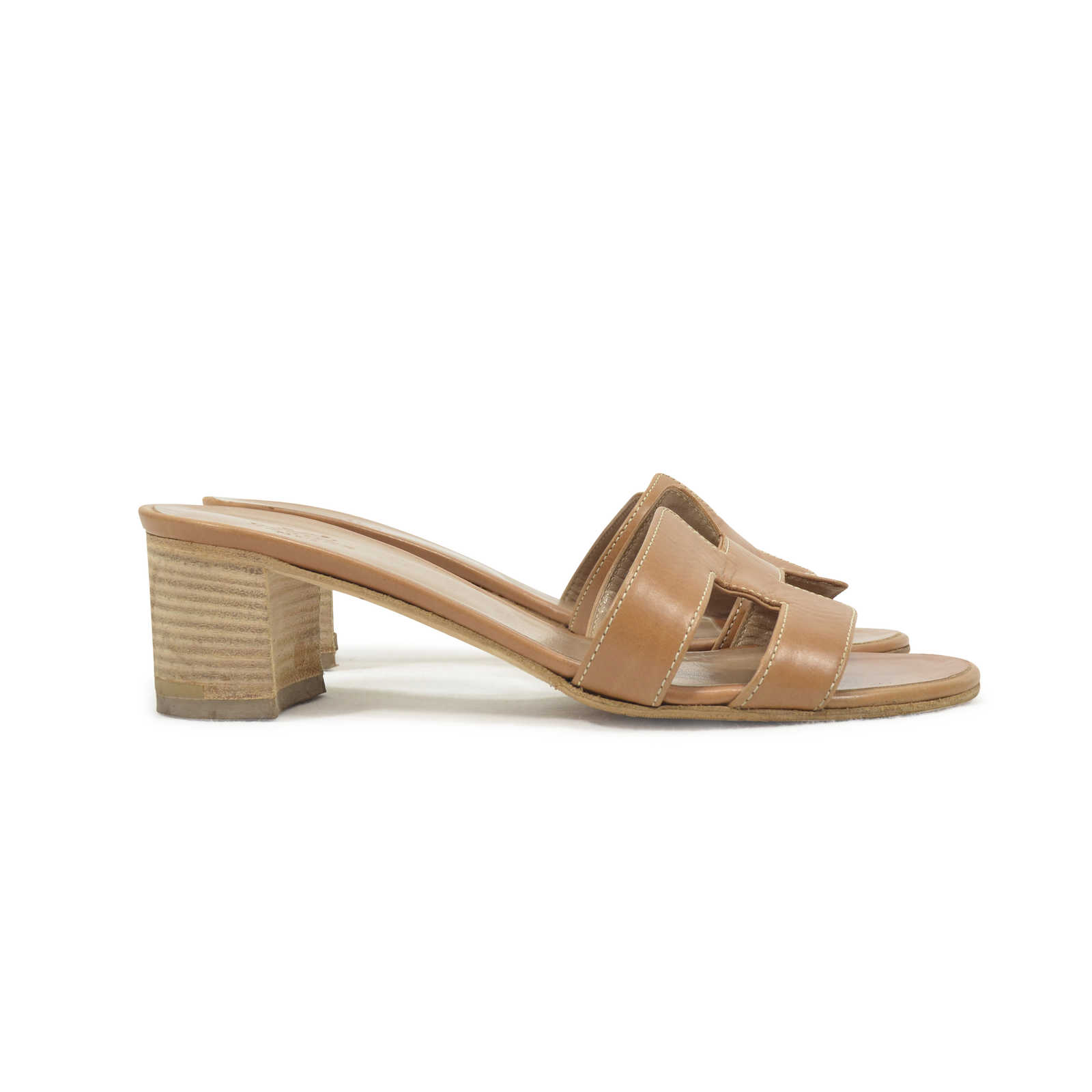 60f082b4a14c ... Authentic Second Hand Hermès Oasis Sandals (PSS-311-00019) - Thumbnail  3 ...